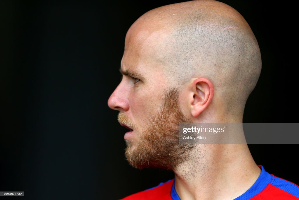 Michael Bradley of the United States mens national soccer team during their training session at the Ato Boldon Stadium on October 9, 2017 in Couva, Trinidad And Tobago.