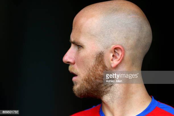 Michael Bradley of the United States mens national soccer team during their training session at the Ato Boldon Stadium on October 9 2017 in Couva...