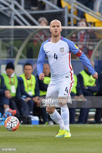 Michael Bradley of the United States Men's National Team controls the ball against Guatemala during the FIFA 2018 World Cup qualifier on March 29...