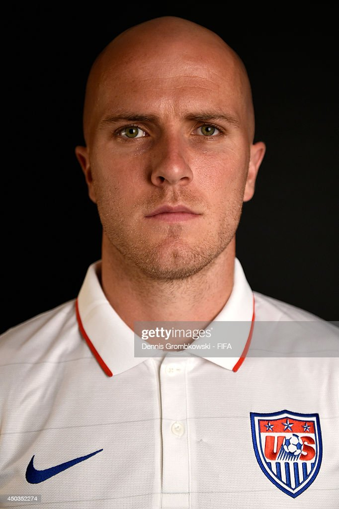 Michael Bradley of the United States poses during the Official FIFA World Cup 2014 portrait session on June 9, 2014 in Sao Paulo, Brazil.