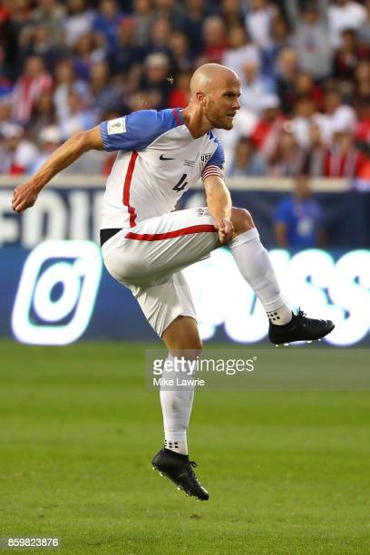 Michael Bradley of the United States shoots against Costa Rica during the FIFA 2018 World Cup Qualifier at Red Bull Arena on September 1 2017 in...