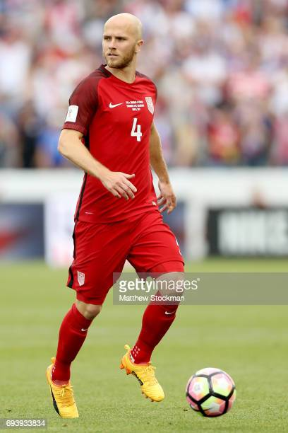 Michael Bradley of the US National Team advances the ball against Trinidad Tabago in the first half during the FIFA 2018 World Cup Qualifier at...