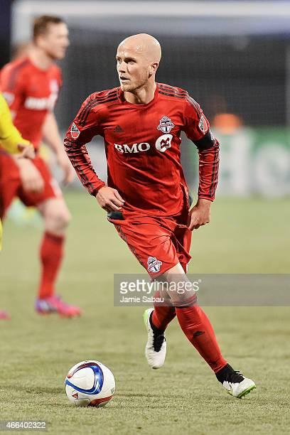 Michael Bradley of Toronto FC in action against the Columbus Crew SC on March 14 2015 at MAPFRE Stadium in Columbus Ohio