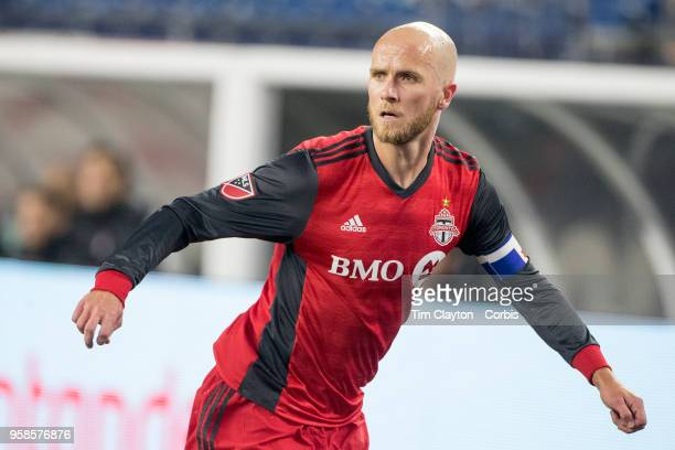 Michael Bradley of Toronto FC in action during the New England Revolution Vs Toronto FC regular season MLS game at Gillette Stadium on May 12 2018 in...