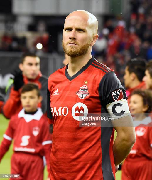 Michael Bradley of Toronto FC prepares for the game against Chivas Guadalajara during the CONCACAF Champions League Final Leg 1 on April 17 2018 at...