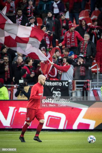 Michael Bradley of Toronto FC runs the pitch during warm ups during the 2017 Audi MLS Championship Cup match between Toronto FC and Seattle Sounders...