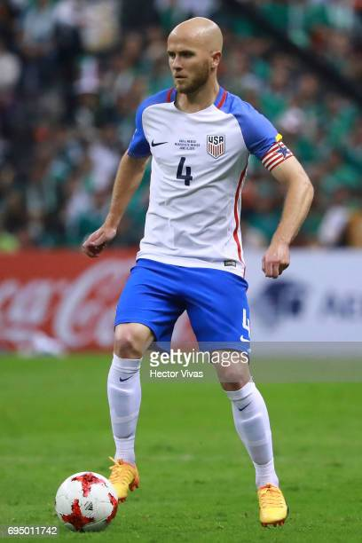 Michael Bradley of United States drives the ball during the match between Mexico and The United States as part of the FIFA 2018 World Cup Qualifiers...