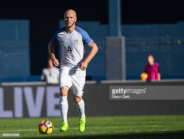 Michael Bradley of United States during the International Soccer Friendly match between the United States and Serbia at Qualcomm Stadium on January...