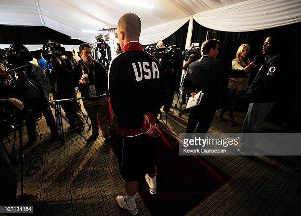 Michael Bradley of US national football team speraks during a press conference at Irene Farm on June 16 2010 in Irene near Pretoria South Africa US...