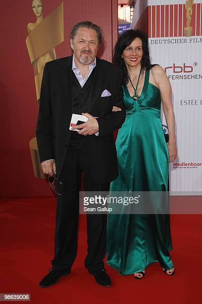 Michael Brandner and his wife Karin attend the German film award at Friedrichstadtpalast on April 23 2010 in Berlin Germany