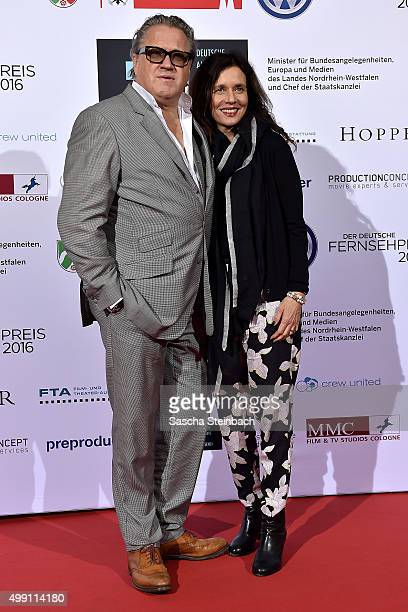 Michael Brandner and his wife Karin attend the German television award by the Deutsche Akademie fuer Fernsehen at Museum Ludwig on November 28 2015...