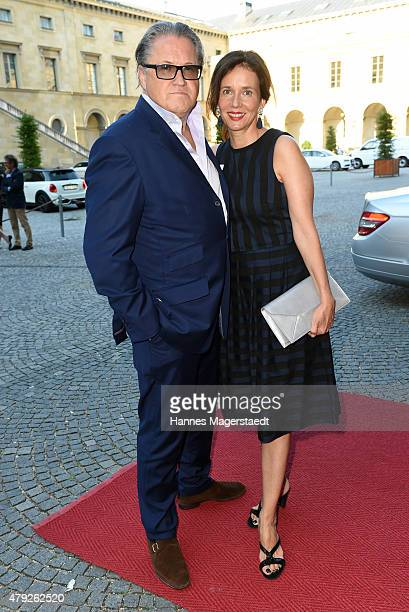 Michael Brandner and his wife Karin Brandner attend the Bernhard Wicki Award 2015 during the Munich Film Festival at Cuvilles Theatre on July 2 2015...