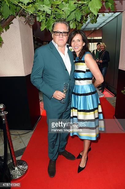 Michael Brandner and his wife Karin Brandner attend the 'Sommerfest der Agenturen' during the Munich Film Festival 2015 at Hugo's on June 27 2015 in...