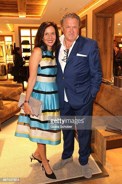 Michael Brandner and his wife Karin Brandner during a cocktail reception hosted by Lodenfrey and Baume Mercier to present the limited Baume Mercier...