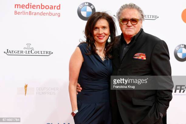 Michael Brandner and his wife Karin Brandner during the Lola German Film Award red carpet arrivals at Messe Berlin on April 28 2017 in Berlin Germany