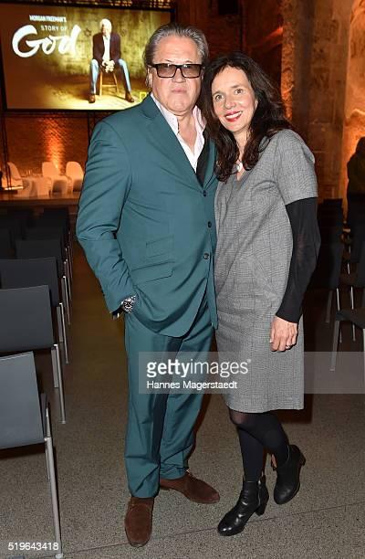 Michael Brandner and his wife Karin Brandner during the 'Morgan Freeman's Story of God' Premiere Screening at Allerheiligen Hofkirche on April 7 2016...