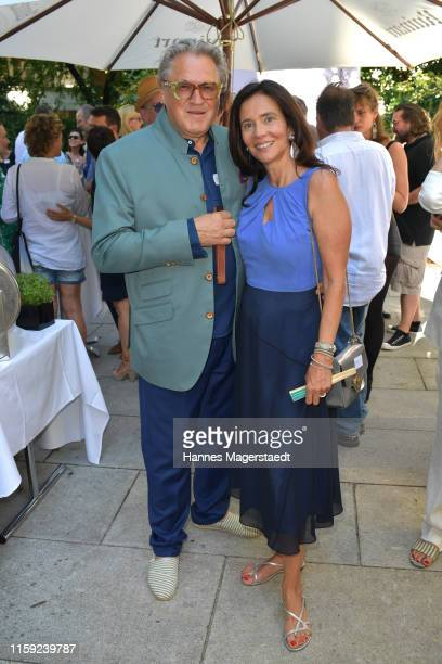Michael Brandner and Karin Brandner at the Scenario SommerCocktail 2019 during the Munich Film Festival at The Charles Hotel on June 30 2019 in...
