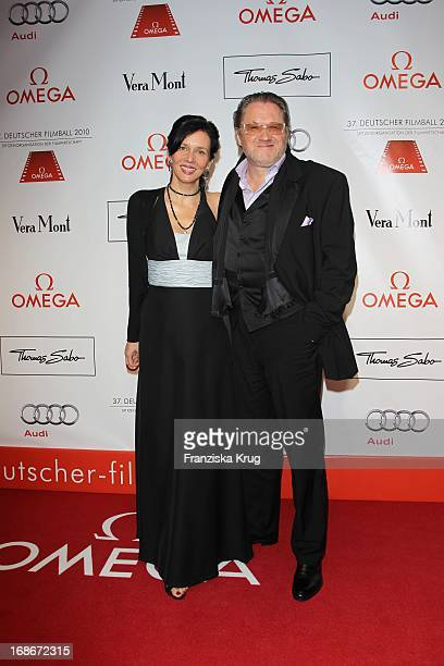 Michael Brandner and wife Karin at 37th German Filmball at Hotel Bayerischer Hof in Munich