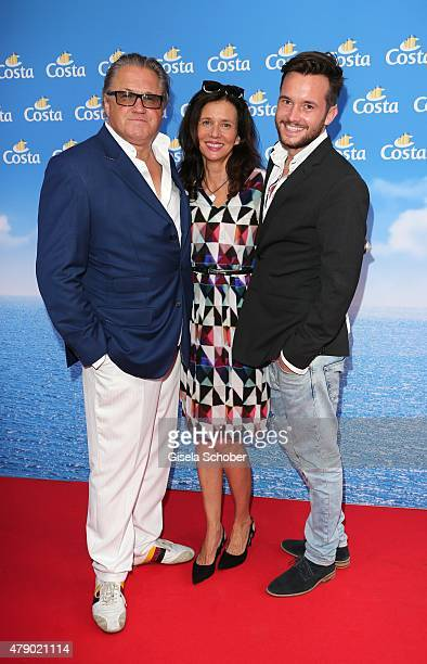 Michael Brandner his wife Karin Brandner and their son Niklas Brandner attend the Movie meets Media party during the Munich Film Festival on June 29...