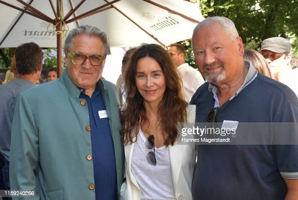Michael Brandner Katharina MüllerElmau and Wilhelm Engelhardt at the Scenario SommerCocktail 2019 during the Munich Film Festival at The Charles...