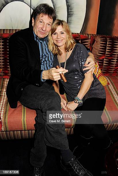 Michael Brandon and Glynis Barber attend a private dinner hosted by Tom Ford to celebrate his runway show during London Collections MEN AW13 at...