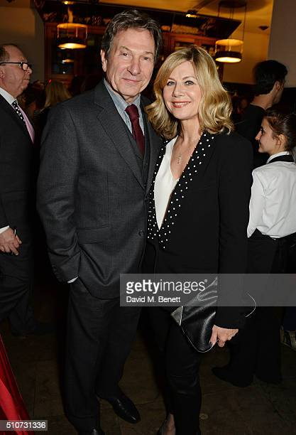 Michael Brandon and Glynis Barber attend the press night after party for 'Mrs Henderson Presents' at The National Cafe on February 16 2016 in London...