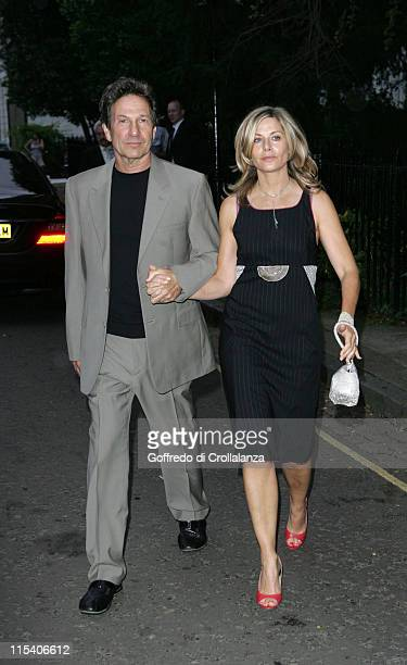 Michael Brandon and Glynis Barber during David Frost Summer Party July 5 2006 at Carlyle Square in London Great Britain