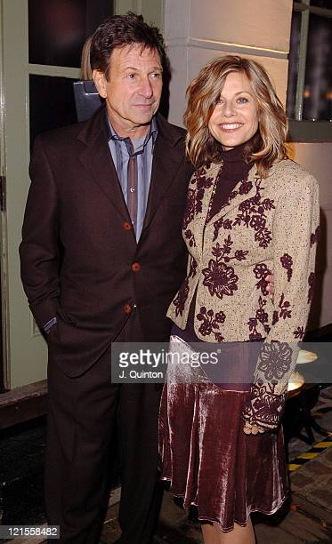 Michael Brandon and Glynis Barber during Kelly Hoppen Book Launch Party at Cheyne Walk Brasserie in London Great Britain