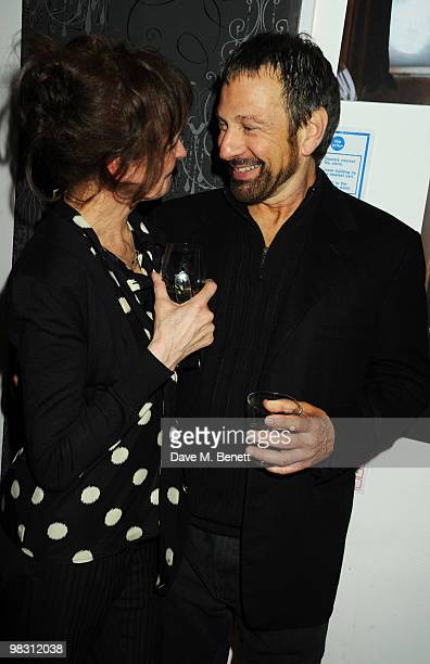 Michael Brandon and Kate Fahy attend the press night of 'Wet Weather Cover' at the Arts Theatre on April 7 2010 in London England
