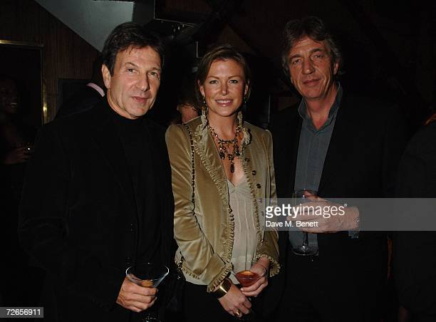 Michael Brandon Eimear Montgomerie and Nick Cook attend Louise Fennell's 50th birthday party at the Collection on November 27 2006 in London England