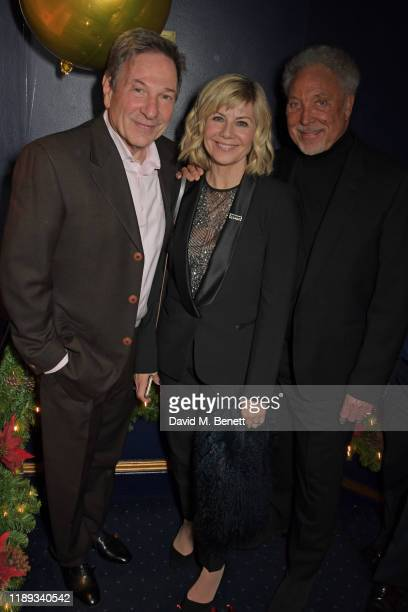 Michael Brandon Glynis Barber and Sir Tom Jones attend Tramp's Christmas Party in celebration of their 50th Anniversary on December 17 2019 in London...