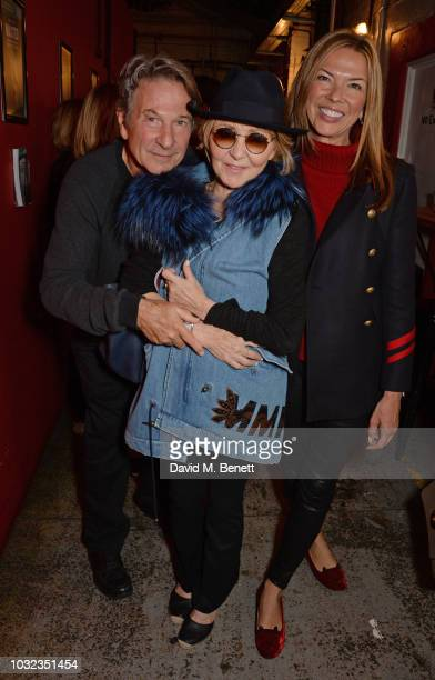 "Michael Brandon, Lulu and Heather Kerzner attend the press night after party for ""Wasted"" at the Southwark Playhouse on September 12, 2018 in London,..."