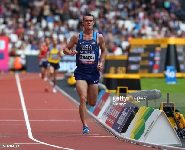 Michael Brannigan of USA Man's 1500m T20 Final during World Para Athletics Championships at London Stadium in London on July 23 2017