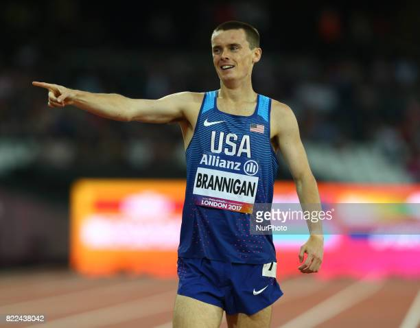 Michael Brannigan of USA winner of Men's 1500m T20 Final during World Para Athletics Championships Day Three at London Stadium in London on July 17...