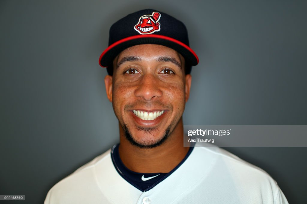 Michael Brantley #23 of the Cleveland Indians poses during Photo Day on Wednesday, February 21, 2018 at Goodyear Ballpark in Goodyear, Arizona.