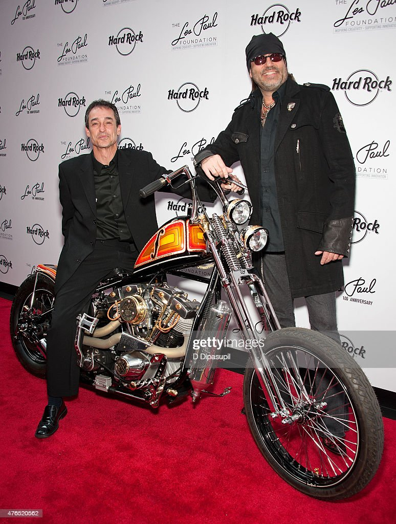 Michael Braunstein (L) and Danny Koker attend Les Paul's 100th Anniversary Celebration at the Hard Rock Cafe - Times Square on June 9, 2015 in New York City.
