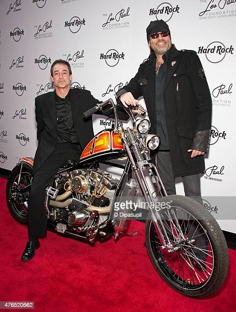 Michael Braunstein and Danny Koker attend Les Paul's 100th Anniversary Celebration at the Hard Rock Cafe Times Square on June 9 2015 in New York City