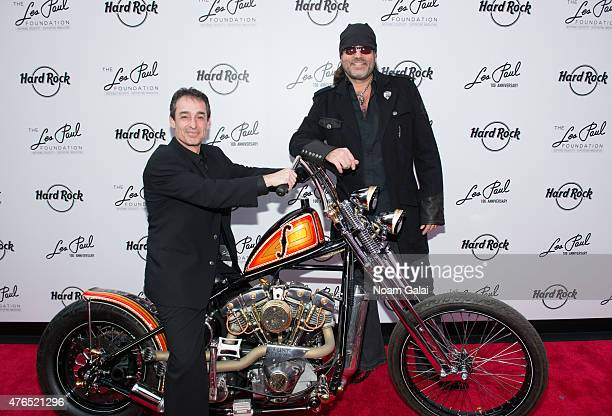 Michael Braunstein and Danny Koker attend Les Paul's 100th anniversary celebration at Hard Rock Cafe Times Square on June 9 2015 in New York City