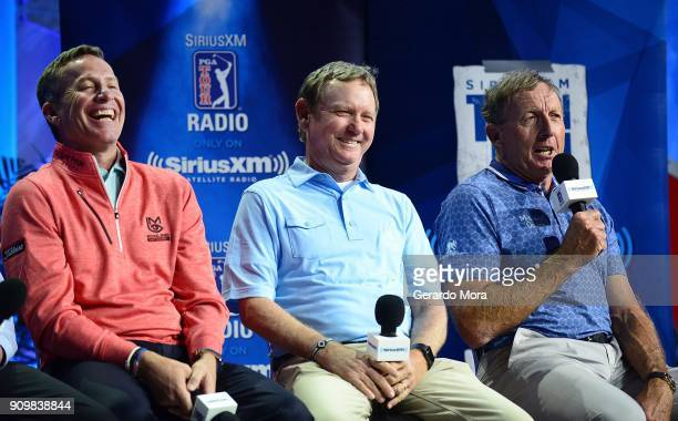 Michael Breed Larry Rinker and David Leadbetter on SiriusXM's Teachers Town Hall at the PGA Merchandise Show on January 24 2018 in Orlando Florida