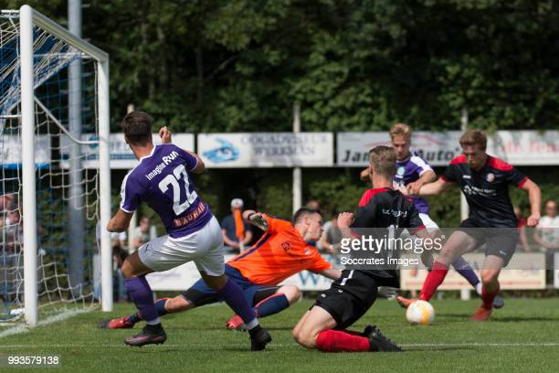 Michael Breij of FC Groningen Tom van Weert of FC Groningen during the Club Friendly match between vv 't Fean '58 v FC Groningen at the Sportpark It...