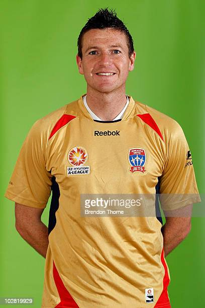 Michael Bridges of the Jets poses during the Newcastle Jets 2010/11 Hyundai ALeague headshots at Ray Whatt Oval on July 12 2010 in Newcastle Australia