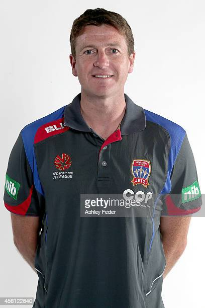 Michael Bridges poses during the Newcastle Jets ALeague headshots session at Hunter Stadium on September 23 2014 in Newcastle Australia