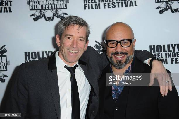 Michael Broderick and Chris Roe arrives for The 2019 Hollywood Reel Independent Film Festival held at Regal LA Live Stadium 14 on February 15 2019 in...