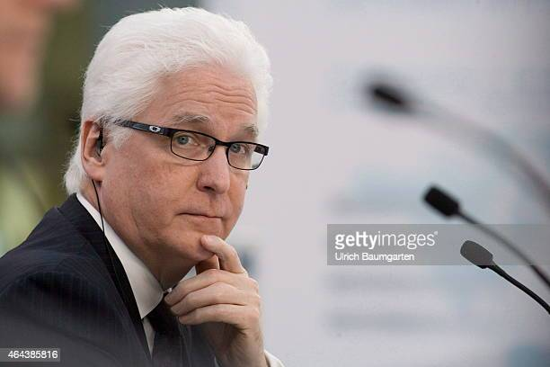 Michael Brosnan, Chief Financial Officer Fresenius Medical Care, during the Annual Press Conference in Bad Homburg, on February 25, 2015 in Bad...