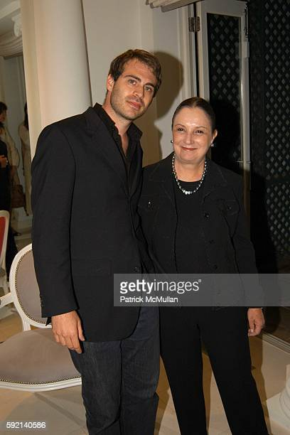 Michael Bruder and Anastasia attend Cocktail Party to Launch The Douglas Hannant Fur Collection by Alexandros at Home of Geoffrey Bradfield on...