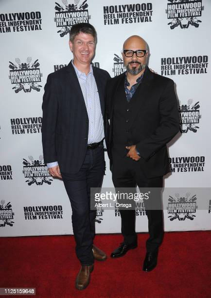 Michael Bruining and Chris Roe arrive for The 2019 Hollywood Reel Independent Film Festival held at Regal LA Live Stadium 14 on February 15 2019 in...