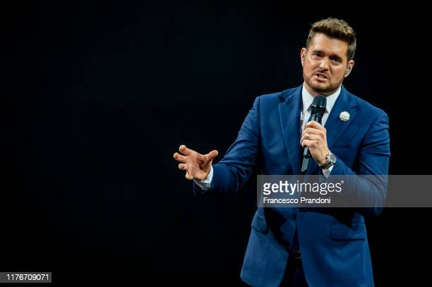 Michael Bublé performs at Mediolanum Forum of Assago on September 23, 2019 in Milan, Italy.