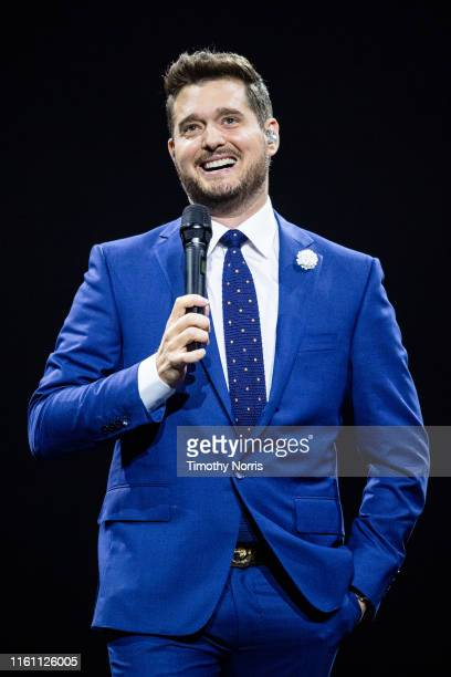 Michael Bublé performs at Staples Center on July 09 2019 in Los Angeles California
