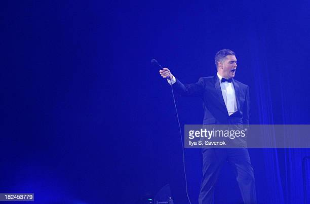 Michael Bublé performs at the Barclays Center on September 29 2013 in the Brooklyn borough of New York City