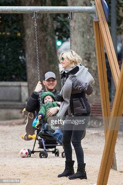 Michael Buble and Luisana Lopilato are seen sharing a stroll with their son Noah and enjoying some bonding time with him at a playground on February...